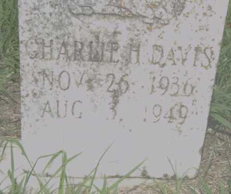 DAVIS, CHARLIE H. - Pulaski County, Arkansas | CHARLIE H. DAVIS - Arkansas Gravestone Photos