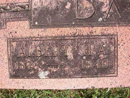 DAVIS, ALBERT IRA (CLOSE UP) - Pulaski County, Arkansas | ALBERT IRA (CLOSE UP) DAVIS - Arkansas Gravestone Photos