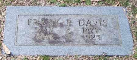 DAVIS, FRANK P. - Pulaski County, Arkansas   FRANK P. DAVIS - Arkansas Gravestone Photos