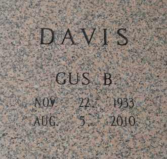 DAVIS, GUS B - Pulaski County, Arkansas | GUS B DAVIS - Arkansas Gravestone Photos