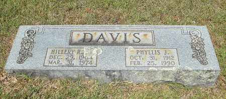 DAVIS, HILLERY RAY - Pulaski County, Arkansas | HILLERY RAY DAVIS - Arkansas Gravestone Photos