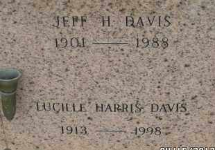 HARRIS DAVIS, LUCILLE - Pulaski County, Arkansas | LUCILLE HARRIS DAVIS - Arkansas Gravestone Photos