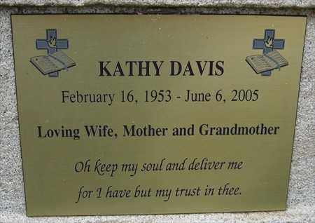 DAVIS, KATHY (CLOSE-UP) - Pulaski County, Arkansas | KATHY (CLOSE-UP) DAVIS - Arkansas Gravestone Photos