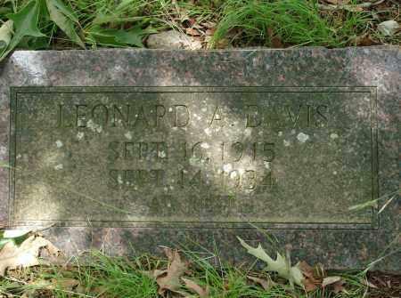 DAVIS, LEONARD A - Pulaski County, Arkansas | LEONARD A DAVIS - Arkansas Gravestone Photos