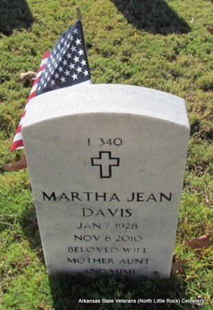DAVIS, MARTHA JEAN - Pulaski County, Arkansas | MARTHA JEAN DAVIS - Arkansas Gravestone Photos