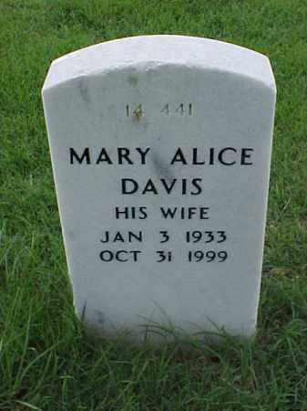 DAVIS, MARY ALICE - Pulaski County, Arkansas   MARY ALICE DAVIS - Arkansas Gravestone Photos