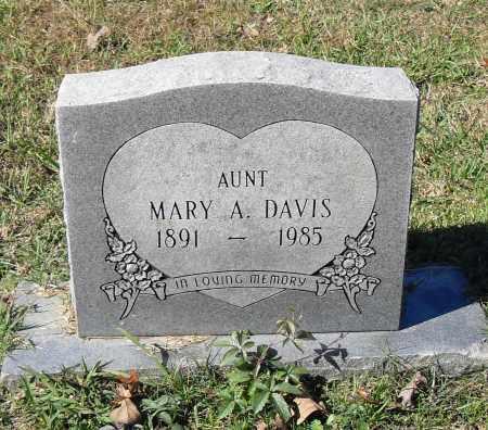 DAVIS, MARY A. - Pulaski County, Arkansas   MARY A. DAVIS - Arkansas Gravestone Photos