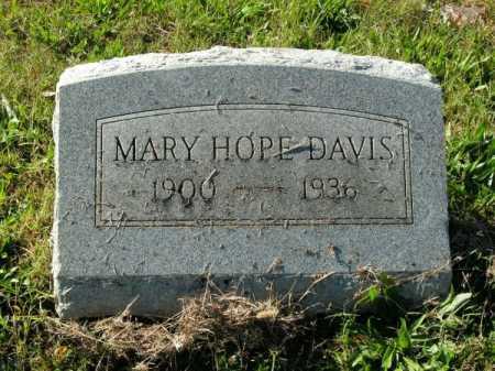 DAVIS, MARY HOPE - Pulaski County, Arkansas | MARY HOPE DAVIS - Arkansas Gravestone Photos