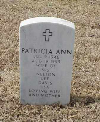 DAVIS, PATRICIA ANN - Pulaski County, Arkansas   PATRICIA ANN DAVIS - Arkansas Gravestone Photos