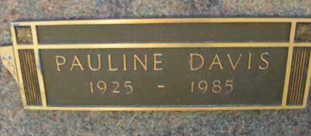 DAVIS, PAULINE - Pulaski County, Arkansas   PAULINE DAVIS - Arkansas Gravestone Photos