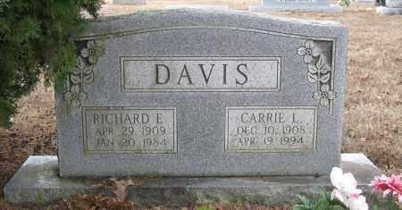 DAVIS, RICHARD E - Pulaski County, Arkansas | RICHARD E DAVIS - Arkansas Gravestone Photos