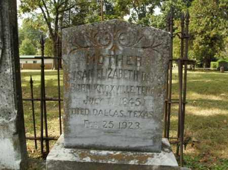 DAVIS, SUSAN ELIZABETH - Pulaski County, Arkansas | SUSAN ELIZABETH DAVIS - Arkansas Gravestone Photos