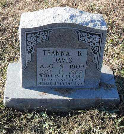 DAVIS, TENNA B. - Pulaski County, Arkansas | TENNA B. DAVIS - Arkansas Gravestone Photos