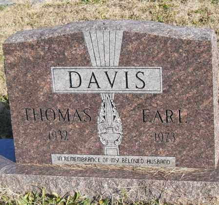 DAVIS, THOMAS EARL - Pulaski County, Arkansas | THOMAS EARL DAVIS - Arkansas Gravestone Photos