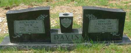 CRENSHAW DAVIS, ANNIE M - Pulaski County, Arkansas | ANNIE M CRENSHAW DAVIS - Arkansas Gravestone Photos