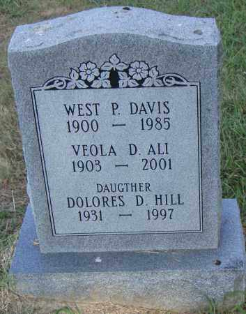 DAVIS, WEST P. - Pulaski County, Arkansas | WEST P. DAVIS - Arkansas Gravestone Photos