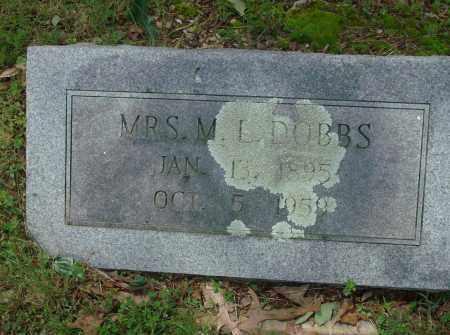 DOBBS, M. L., MRS. - Pulaski County, Arkansas | M. L., MRS. DOBBS - Arkansas Gravestone Photos