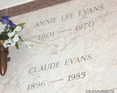EVANS, ANNIE LEE - Pulaski County, Arkansas | ANNIE LEE EVANS - Arkansas Gravestone Photos