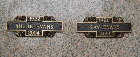 EVANS, BILLIE - Pulaski County, Arkansas   BILLIE EVANS - Arkansas Gravestone Photos