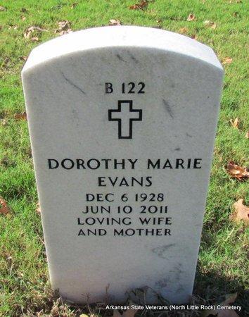 EVANS, DOROTHY MARIE - Pulaski County, Arkansas | DOROTHY MARIE EVANS - Arkansas Gravestone Photos