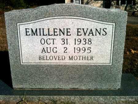EVANS, EMILLENE - Pulaski County, Arkansas | EMILLENE EVANS - Arkansas Gravestone Photos