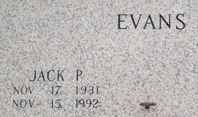 EVANS, JACK P - Pulaski County, Arkansas   JACK P EVANS - Arkansas Gravestone Photos
