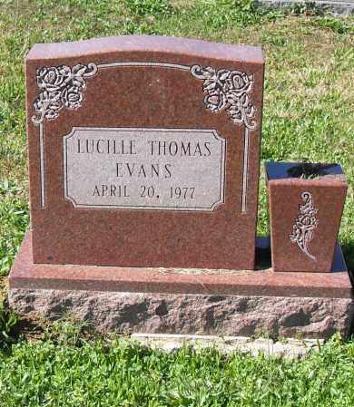 EVANS, LUCILLE - Pulaski County, Arkansas | LUCILLE EVANS - Arkansas Gravestone Photos
