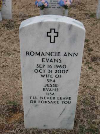 EVANS, ROMANCIE ANN - Pulaski County, Arkansas   ROMANCIE ANN EVANS - Arkansas Gravestone Photos