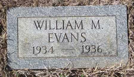 EVANS, WILLIAM M - Pulaski County, Arkansas   WILLIAM M EVANS - Arkansas Gravestone Photos