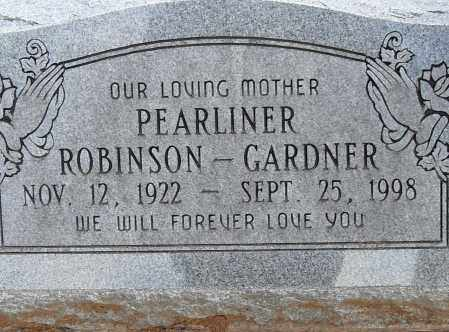 ROBINSON GARNER, PEARLINER - Pulaski County, Arkansas | PEARLINER ROBINSON GARNER - Arkansas Gravestone Photos