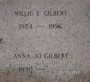GILBERT, WILLIE E - Pulaski County, Arkansas   WILLIE E GILBERT - Arkansas Gravestone Photos