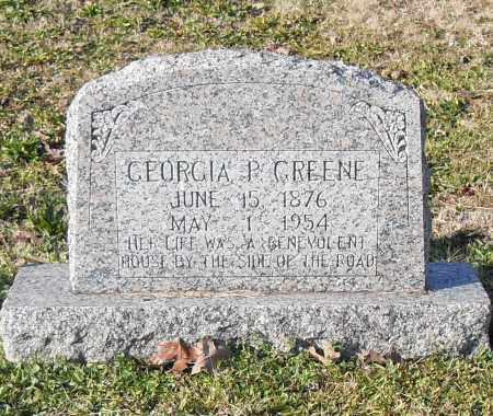 GREENE, GEORGIA P. - Pulaski County, Arkansas   GEORGIA P. GREENE - Arkansas Gravestone Photos