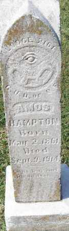HAMPTON, AMOS - Pulaski County, Arkansas | AMOS HAMPTON - Arkansas Gravestone Photos