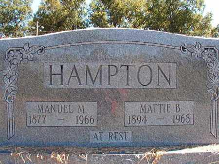 HAMPTON, MATTIE B - Pulaski County, Arkansas | MATTIE B HAMPTON - Arkansas Gravestone Photos