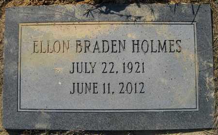 HOLMES, ELLON BRADEN - Pulaski County, Arkansas | ELLON BRADEN HOLMES - Arkansas Gravestone Photos