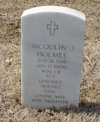 HOLMES, JACQULIN J - Pulaski County, Arkansas | JACQULIN J HOLMES - Arkansas Gravestone Photos