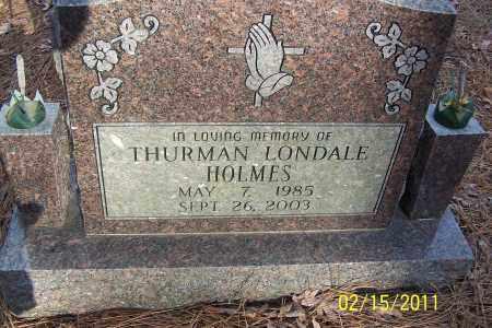 HOLMES, THURMAN LONDALE - Pulaski County, Arkansas | THURMAN LONDALE HOLMES - Arkansas Gravestone Photos