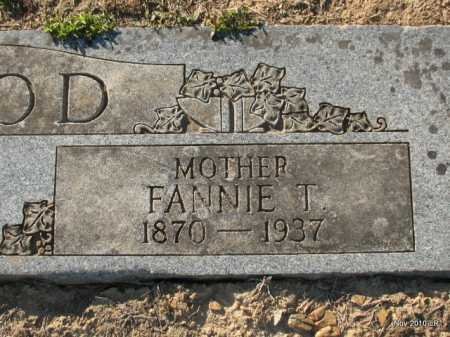 HOOD, FANNIE T  (CLOSE UP) - Pulaski County, Arkansas | FANNIE T  (CLOSE UP) HOOD - Arkansas Gravestone Photos