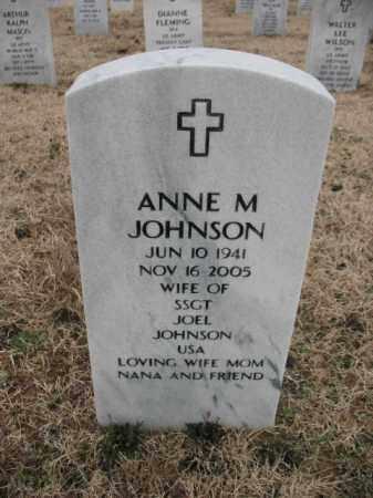 JOHNSON, ANNE M - Pulaski County, Arkansas | ANNE M JOHNSON - Arkansas Gravestone Photos