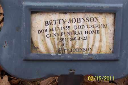 JOHNSON, BETTY - Pulaski County, Arkansas | BETTY JOHNSON - Arkansas Gravestone Photos