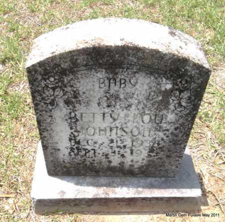 JOHNSON, BETTY LOU - Pulaski County, Arkansas | BETTY LOU JOHNSON - Arkansas Gravestone Photos