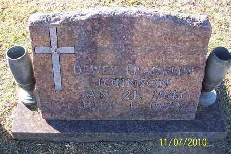 JOHNSON, DEWEY FRANKLIN - Pulaski County, Arkansas | DEWEY FRANKLIN JOHNSON - Arkansas Gravestone Photos