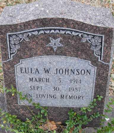 JOHNSON, ELUA W. - Pulaski County, Arkansas | ELUA W. JOHNSON - Arkansas Gravestone Photos