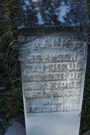 JOHNSON, FRANK P - Pulaski County, Arkansas   FRANK P JOHNSON - Arkansas Gravestone Photos