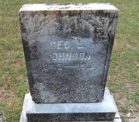 JOHNSON, GEORGE L - Pulaski County, Arkansas | GEORGE L JOHNSON - Arkansas Gravestone Photos