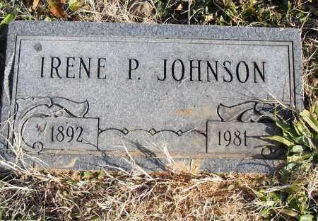 JOHNSON, IRENE P. - Pulaski County, Arkansas | IRENE P. JOHNSON - Arkansas Gravestone Photos