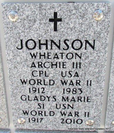 JOHNSON, GLADYS MARIE - Pulaski County, Arkansas | GLADYS MARIE JOHNSON - Arkansas Gravestone Photos