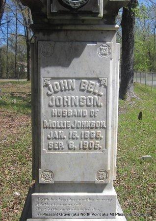 JOHNSON, JOHN BELL (CLOSE UP 3) - Pulaski County, Arkansas | JOHN BELL (CLOSE UP 3) JOHNSON - Arkansas Gravestone Photos