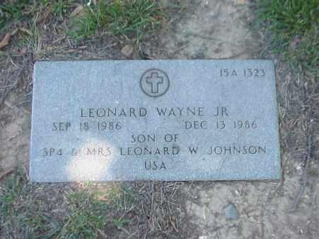 JOHNSON, LEONARD WAYNE - Pulaski County, Arkansas | LEONARD WAYNE JOHNSON - Arkansas Gravestone Photos