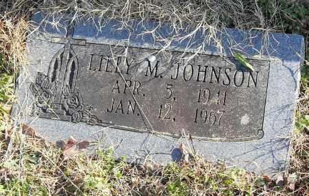 JOHNSON, LILLY M. - Pulaski County, Arkansas | LILLY M. JOHNSON - Arkansas Gravestone Photos